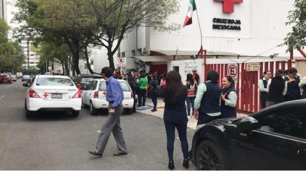 Amenaza de bomba provoca desalojo de la Cruz Roja de Polanco - Foto de Twitter