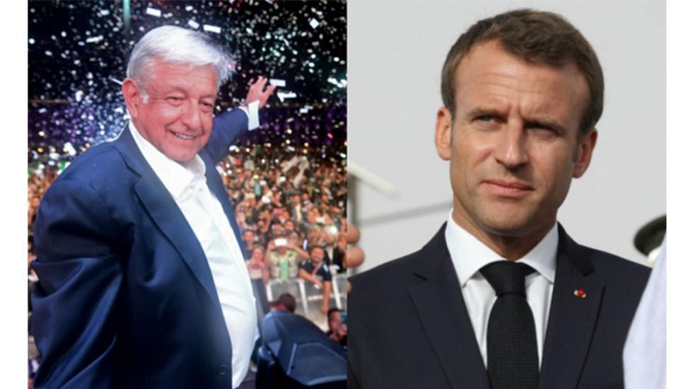 Macron felicita a AMLO y lo invita a Francia