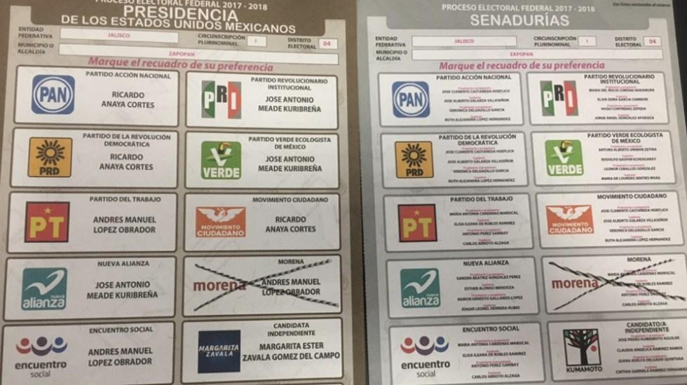 No es delito tomar foto a la boleta electoral - Foto de @m_zamarripa
