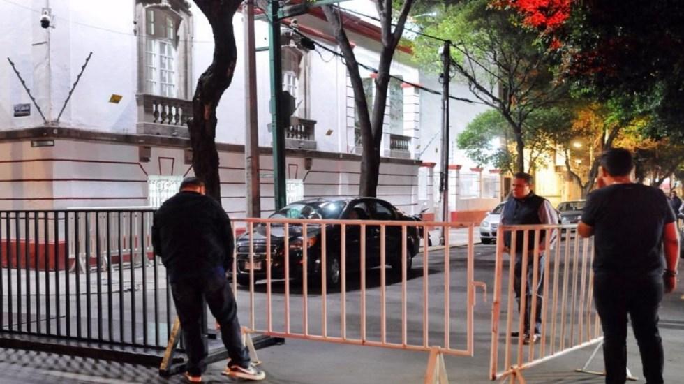 Refuerzan seguridad en la Roma por reunión AMLO-Pompeo - Foto de Twitter
