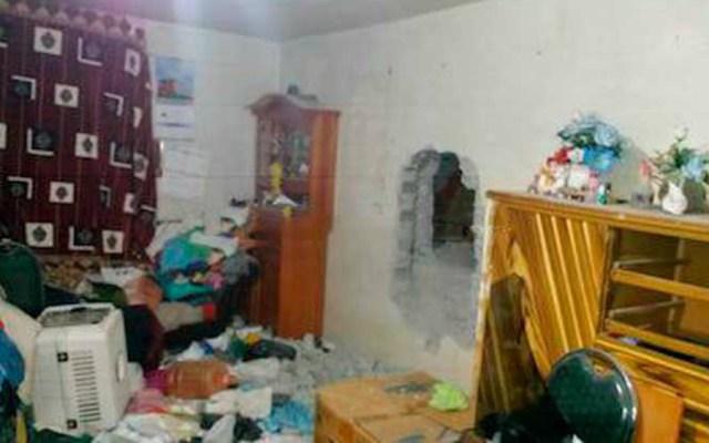 Abren hoyo en vivienda para robar en tienda Elektra en el Edomex - Foto de A Fondo Estado de México