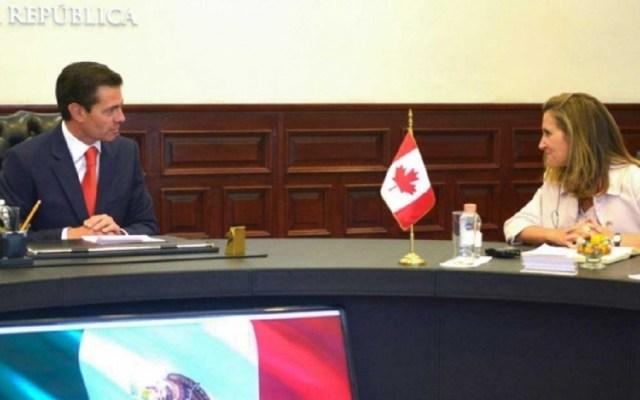 Peña Nieto y Freeland abordaron TLCAN en diálogo privado - Foto de Cuartoscuro