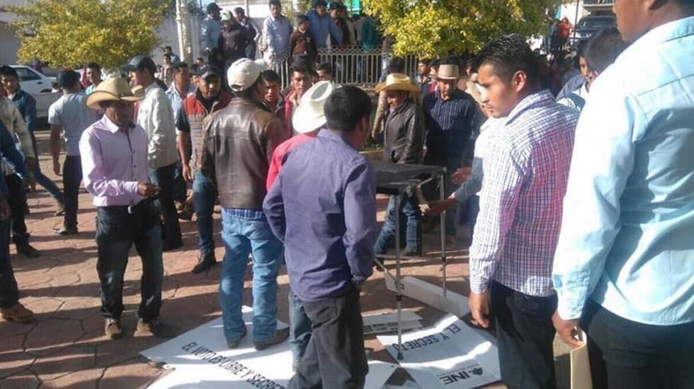 #Video Suspenden votación en casilla de Chiapas por altercado