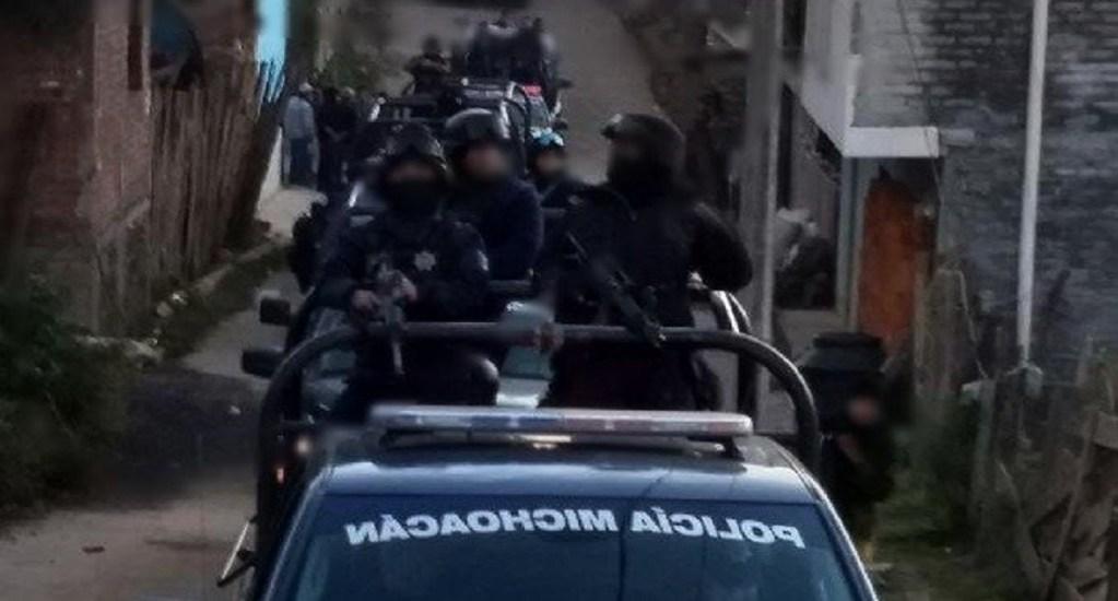 """Detienen al presunto líder criminal """"El kilo"""" en Michoacán - Foto de @MICHOACANSSP"""