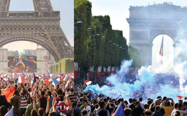 Así celebran los franceses la Copa del Mundo