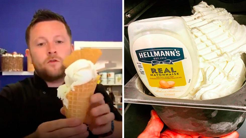 Lanzan helado de mayonesa Hellmann's