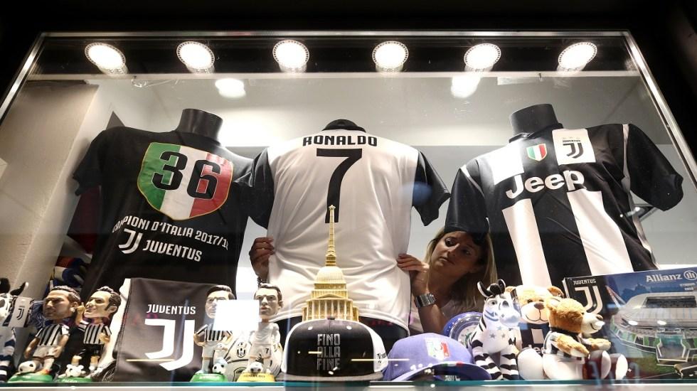 Colapsa tienda en línea de la Juventus tras contratación de Ronaldo - Foto de Isabella Bonotto / AFP