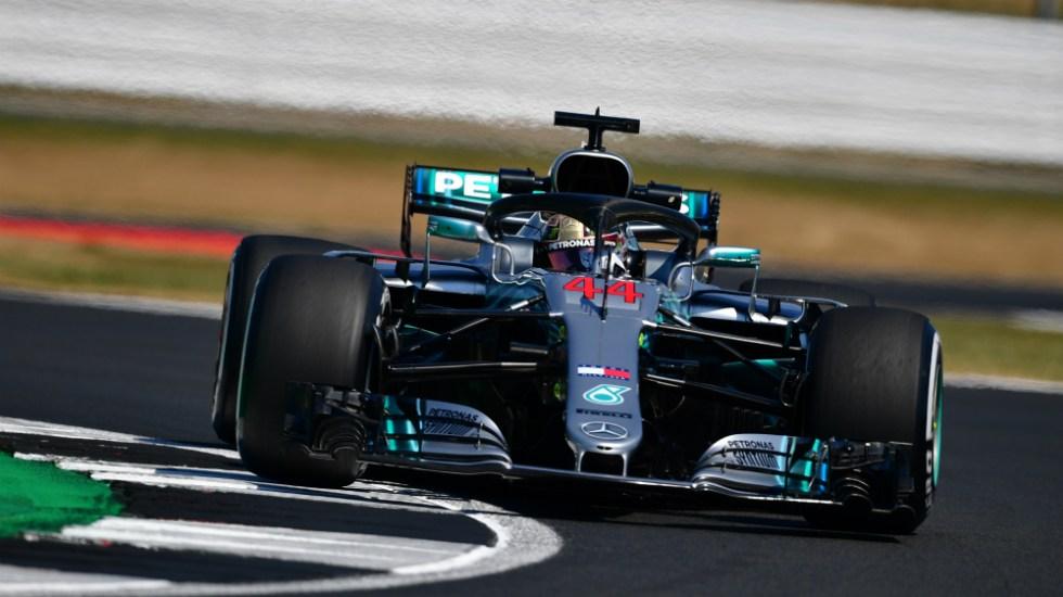 Hamilton obtiene la pole en el GP de Gran Bretaña 2018 de F1 - Foto de Andrej Isakovbic / AFP