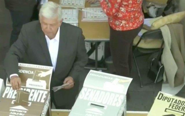 AMLO vota por Rosario Ibarra de Piedra - Captura de pantalla