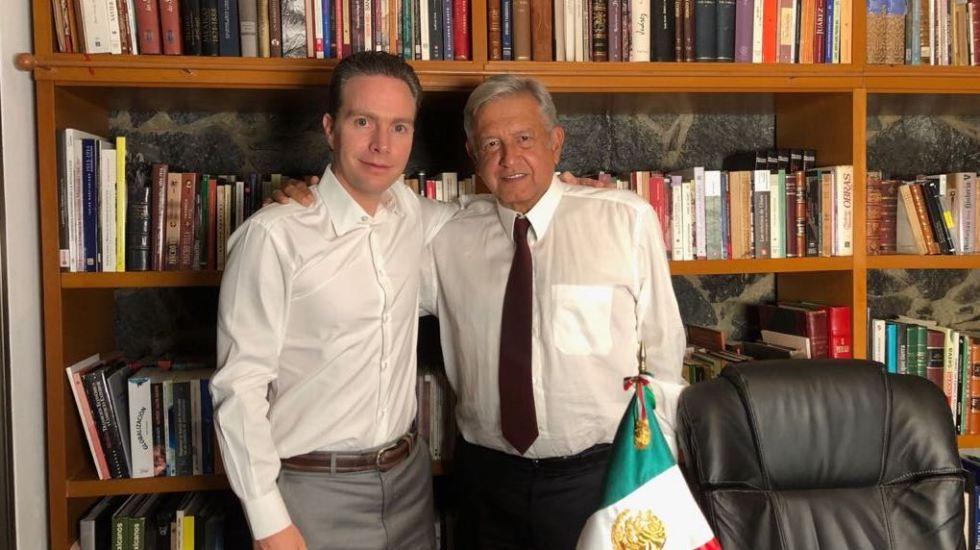 Lopez Obrador recibe en su casa a Manuel Velasco