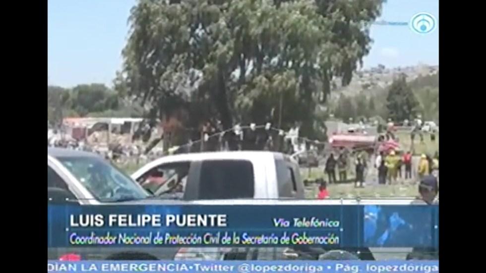 Habrá revisión exhaustiva tras explosión en Tultepec: Luis Felipe Puente