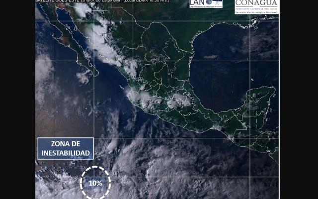 SMN alerta por zona de inestabilidad en el Pacífico con potencial ciclónico - Foto de SMN