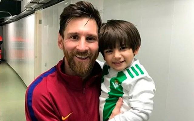 #Video Hijo de Andrés Guardadoconoce a Lionel Messi - Foto de Instagram