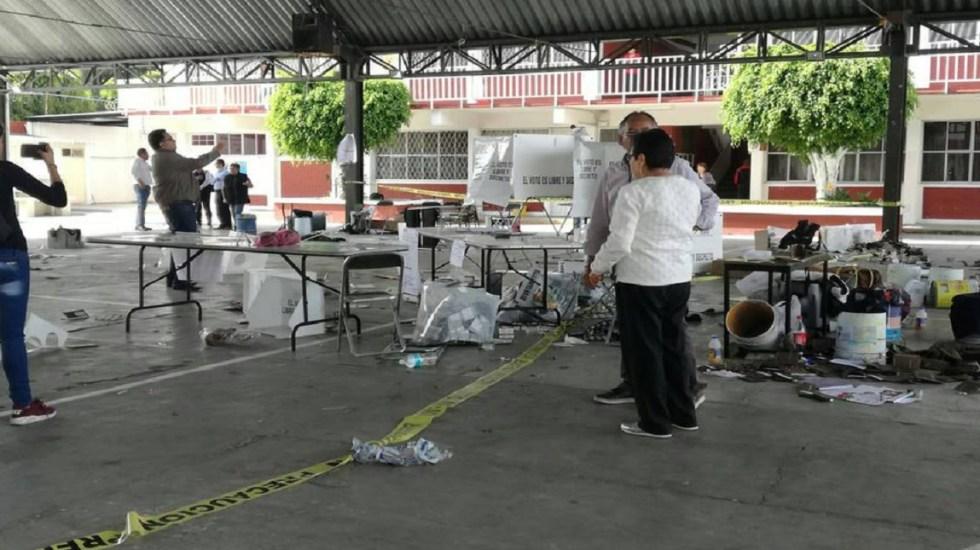 Ocurren 39 incidentes durante elecciones en Puebla - Foto de @CarlosOrtegaMX
