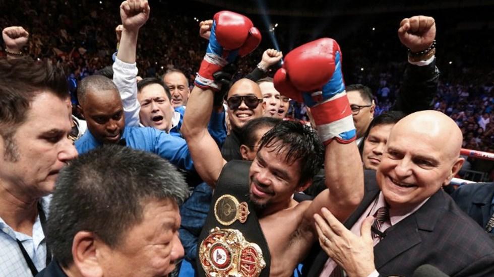 """""""Tengo dos o tres combates para ofrecer"""": Pacquiao - Foto de Internet"""