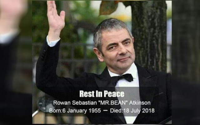 Reviven estafa con falsa muerte del actor de Mr. Bean - Foto de internet