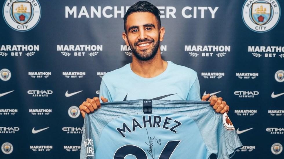 Riyad Mahrez firma con el Manchester City por cinco años - Foto de Manchester City