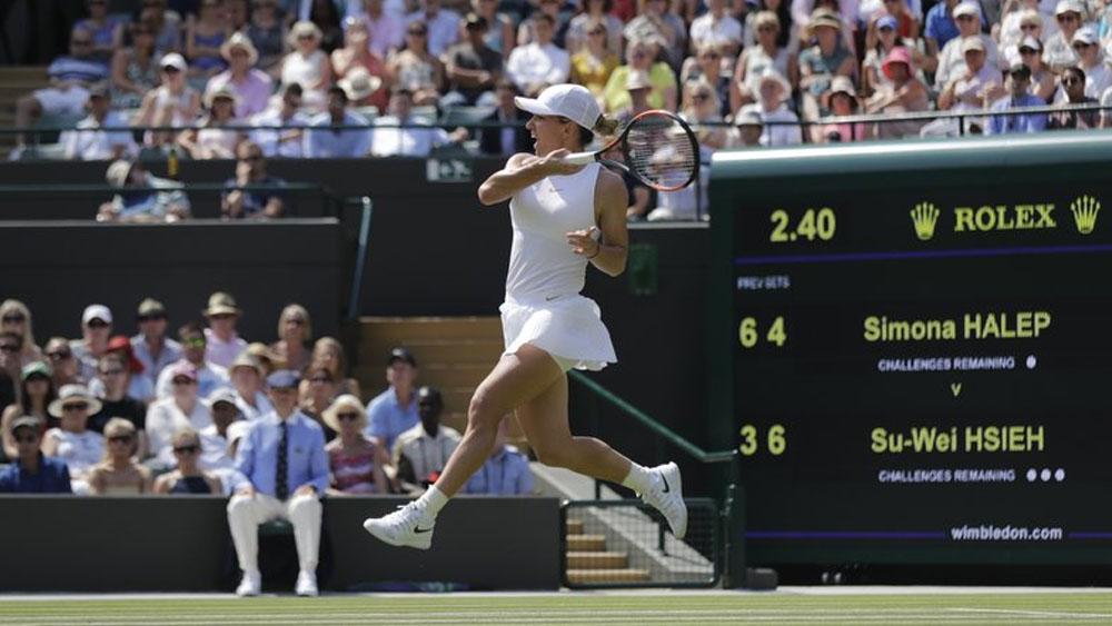 Simona Halep es eliminada de Wimbledon por la número 48 del mundo - Foto de AP
