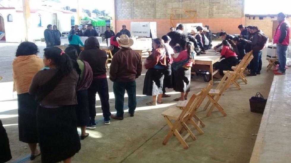 Suspenden elecciones en municipio de Chiapas por robo de boletas - Foto de @INE_Chiapas