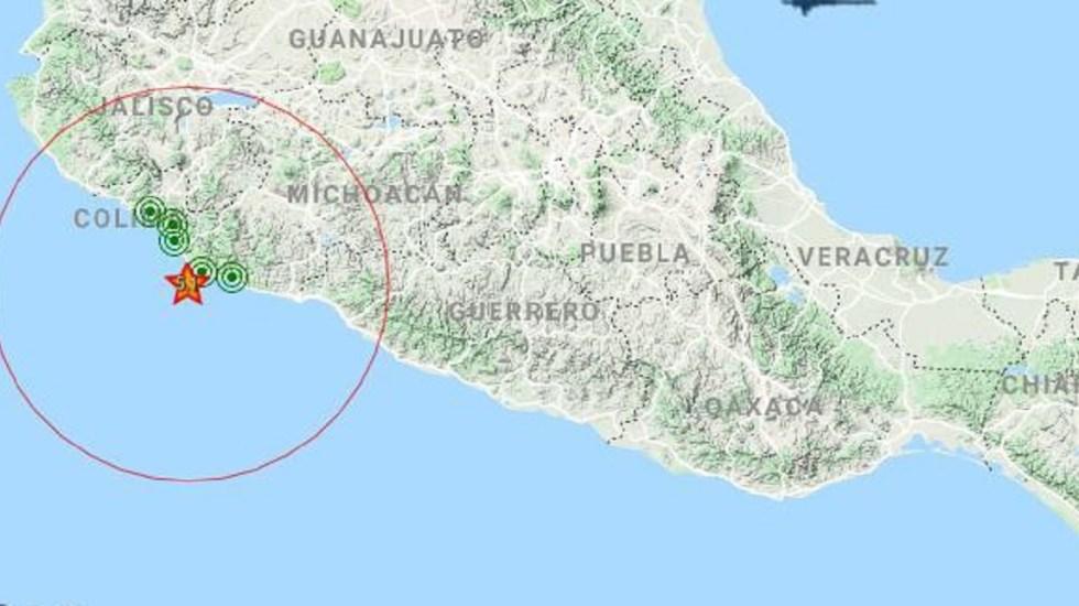 Tiembla dos veces durante la madrugada en Michoacán - Foto de @SASMEX