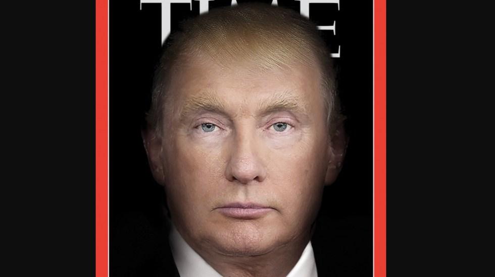Time publica portada de Vladimir Putin y Donald Trump