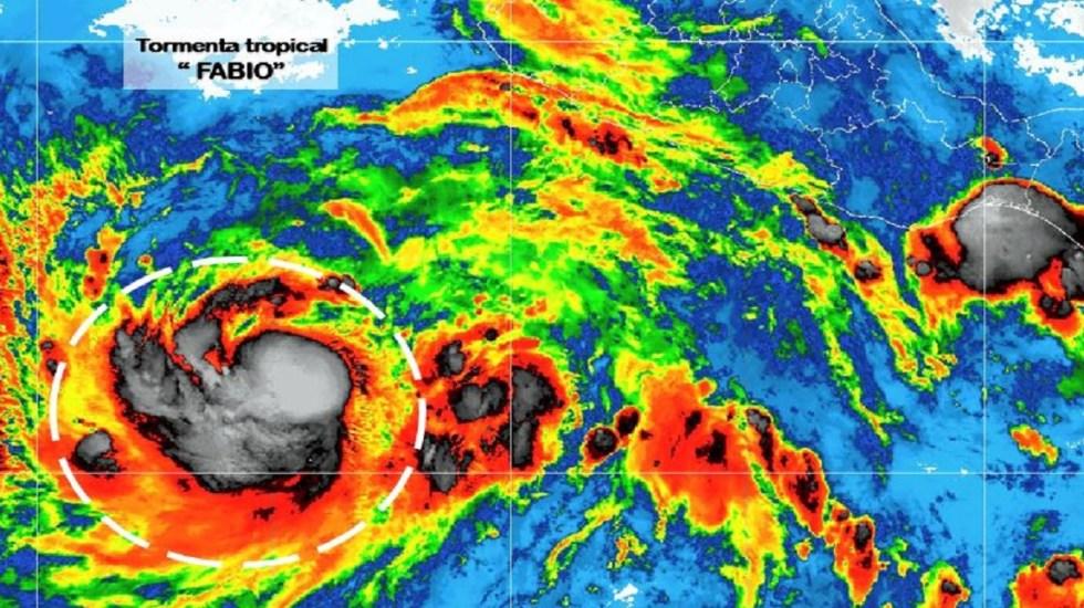Tormenta tropical Fabio se intensifica en costas de Jalisco - Foto de Conagua