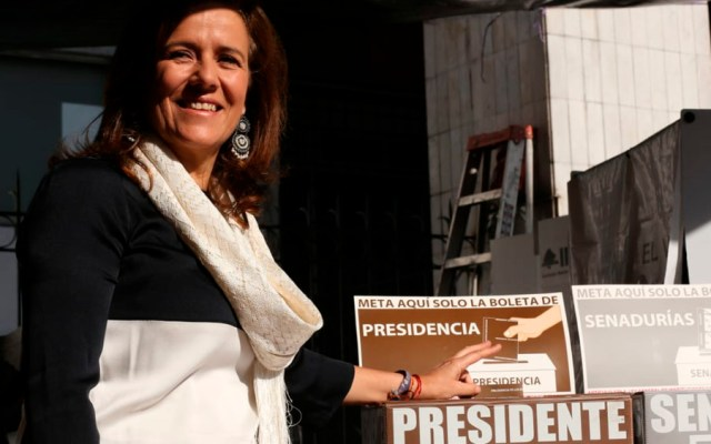 Margarita Zavala votó en Álvaro Obregón - Foto de Milenio
