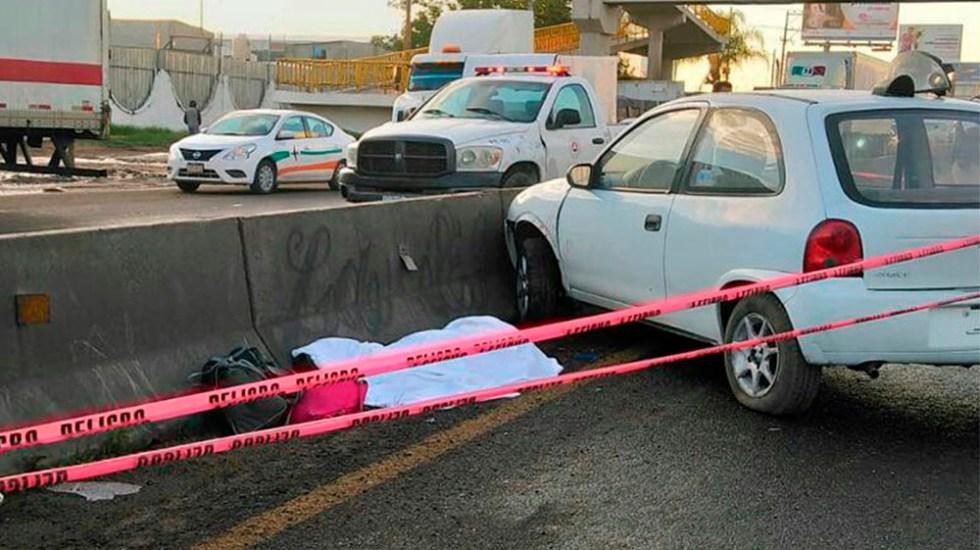Accidente deja una mujer muerta en la carretera León-Silao - Foto Especial