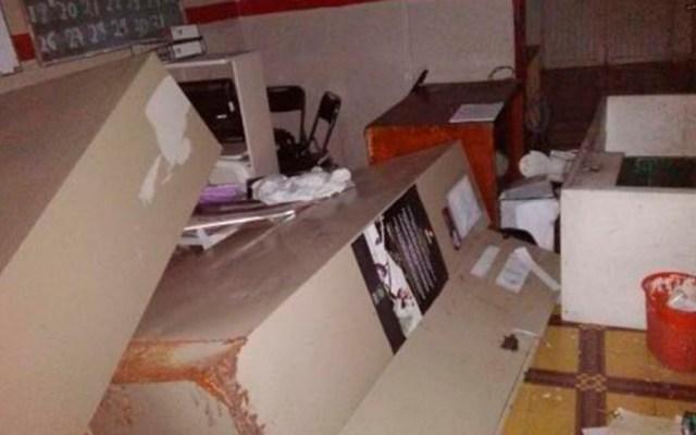 Huachicoleros destrozan alcaldía en Hidalgo - Foto de Quadratín