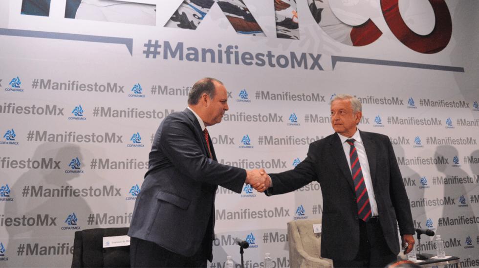 Coparmex se pronuncia a favor de plan de seguridad de López Obrador - Primer reunión de la Coparmex con AMLO. Foto de El Sur de Acapulco