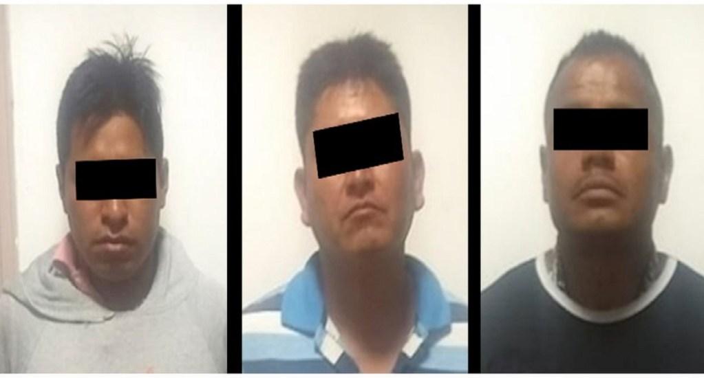 Cae trío dedicado al robo de pasajeros en el Estado de México - Foto de @SS_Edomex