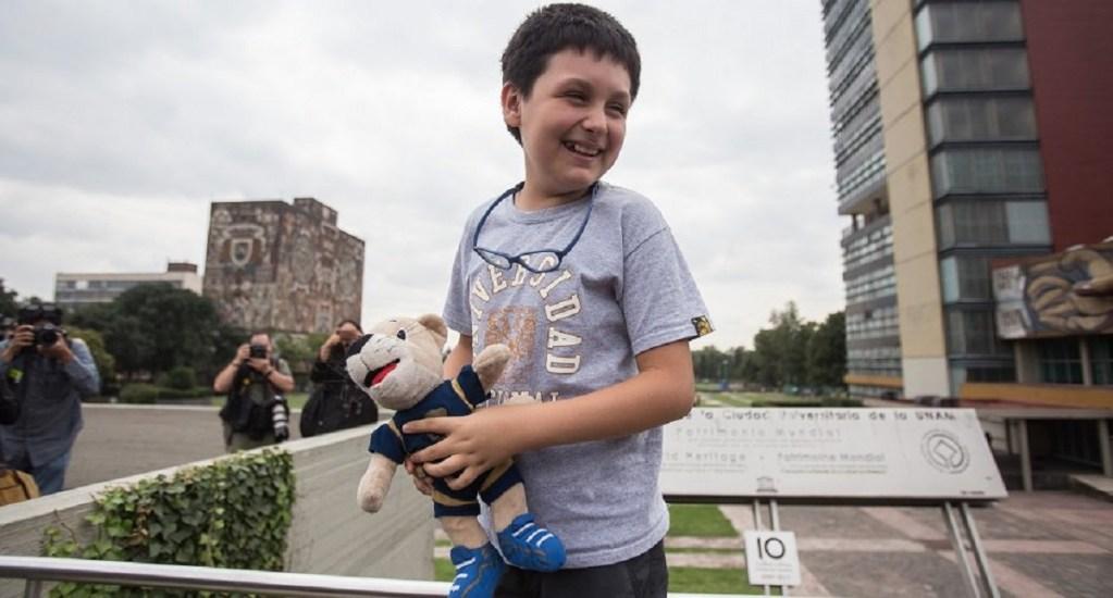 Niño genio de la UNAM denuncia acoso escolar y difamación por parte de profesor - Foto de Twitter