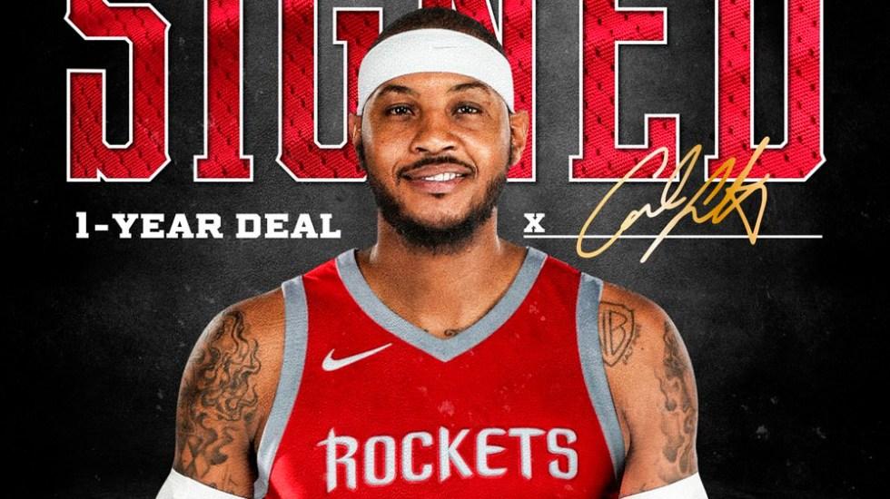 Carmelo Anthony jugará con los Houston Rockets - Foto de @HoustonRockets
