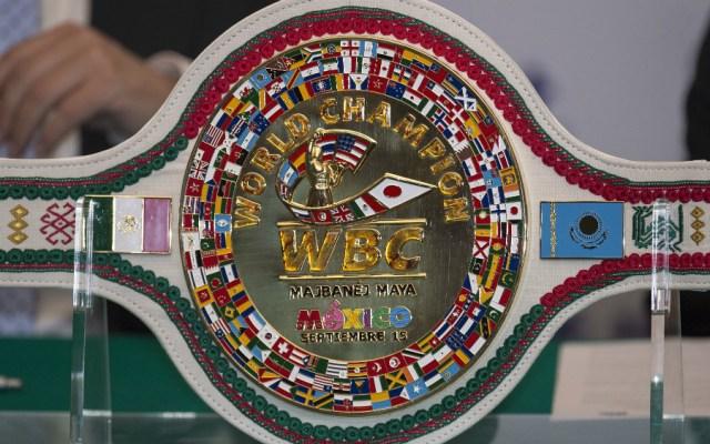 Presentan cinturón chiapaneco para ganador de 'Canelo' vs Golovkin - Foto de Mexsport