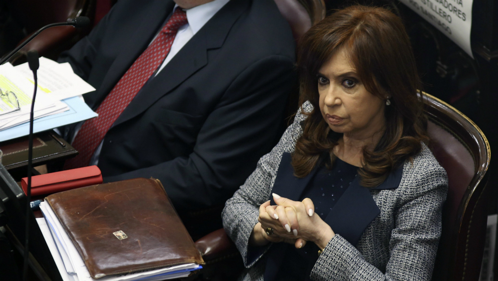 No me arrepiento de nada de lo que hice como presidenta: Cristina Fernández - Fernández de Kirchner en el Senado de Argentina. Foto de AFP