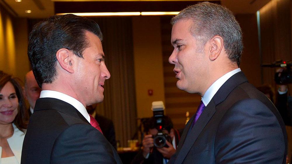 EPN se reúne con presidente electo de Colombia - Foto de @PresidenciaMX