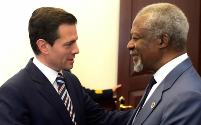 Aportaciones a la paz y derechos humanos, legado de Kofi Annan: EPN - Foto de Cuartoscuro