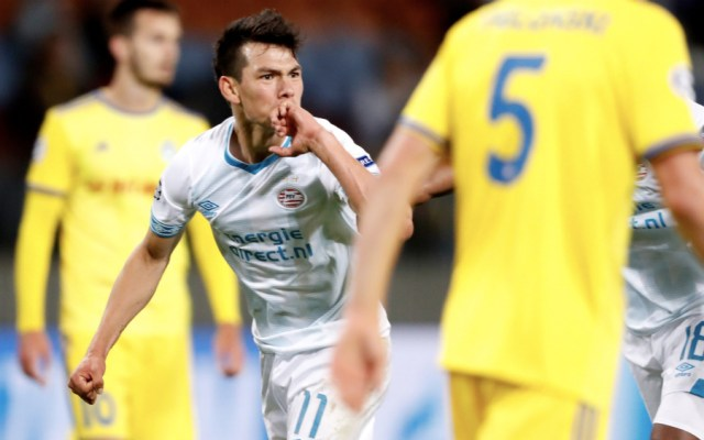 #Video 'Chucky' Lozano anota en triunfo del PSV en Playoff de Champions League - Foto de @ChampionsLeague