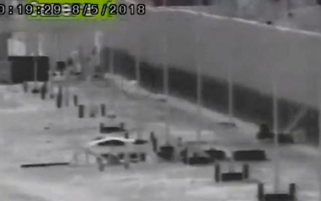 #Video Hombre se rompe ambas piernas tras caer de muro fronterizo