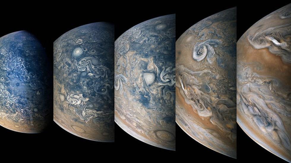 Juno capta imágenes del comportamiento atmosférico de Júpiter - Foto de NASA