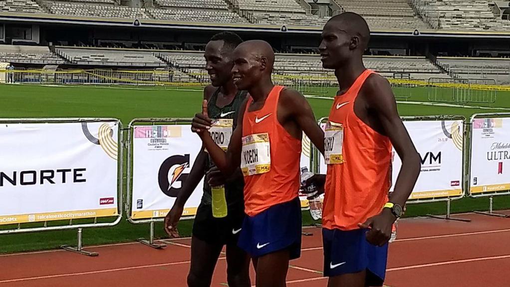Kenia acapara el podio del Maratón de la Ciudad de México - Foto de Internet