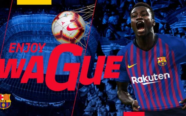 Barcelona contrata al joven internacional senegalés Moussa Wague - Foto de FC Barcelona