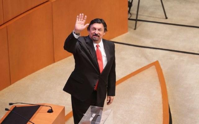 Napoléon Gómez Urrutia rinde protesta como senador - Foto de Milenio