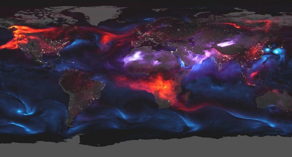 NASA revela los gases y partículas que abundan en el aire - Foto de NASA Earth Observatory