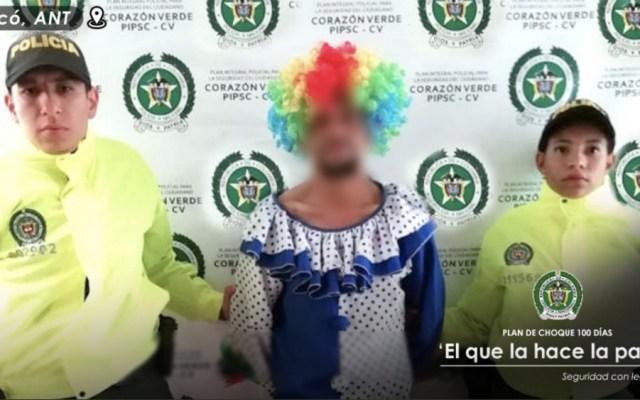 Hombre se disfraza de payaso para intentar abusar de niña - Foto de Policía de Antioquia