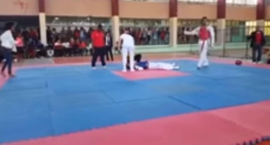 #Video Joven muere durante combate de Taekwondo