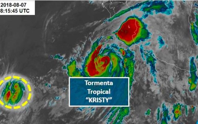 Depresión 13-E se convierte en tormenta tropical Kristy - Foto de @conagua_clima