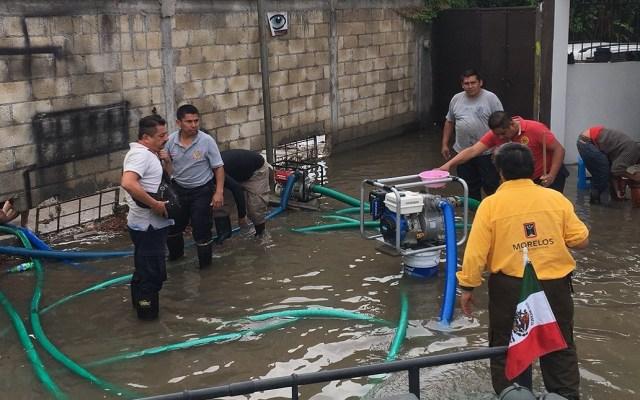 Activan protocolo de emergencia por lluvias en Jojutla - Foto de @CEECA_Morelos