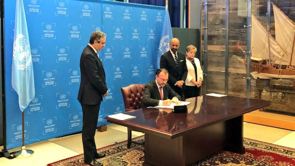 México firma acuerdo regional de acceso a la información - Foto de  @SRE_mx