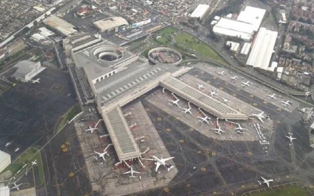 Complicada e ineficiente la operación de AICM y Santa Lucía: Canaero - Vista aérea del AICM. Foto de @aviacion21